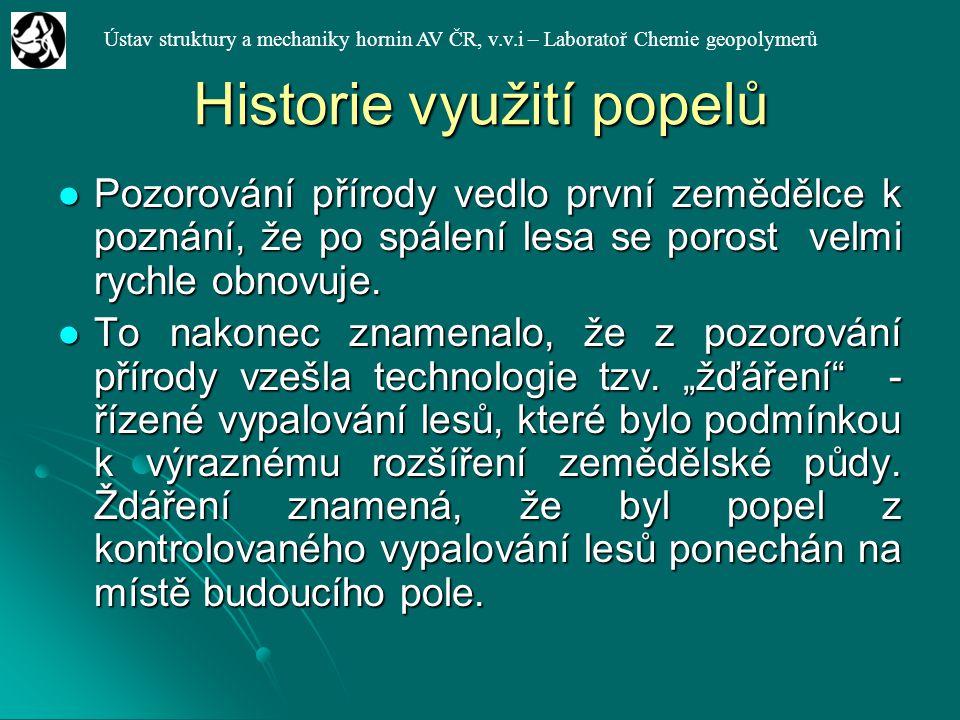 Historie využití popelů