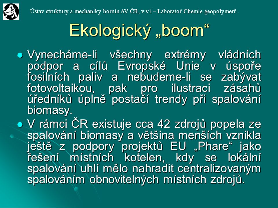 """Ekologický """"boom"""
