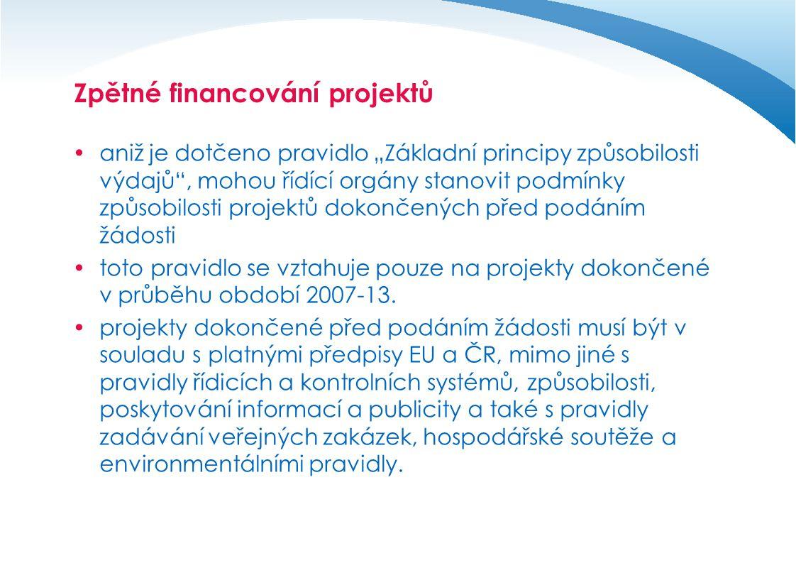Zpětné financování projektů