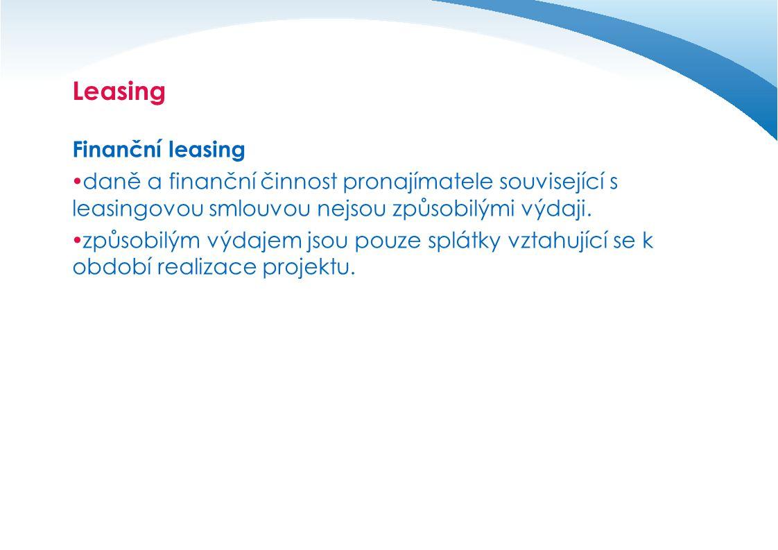 Leasing Finanční leasing