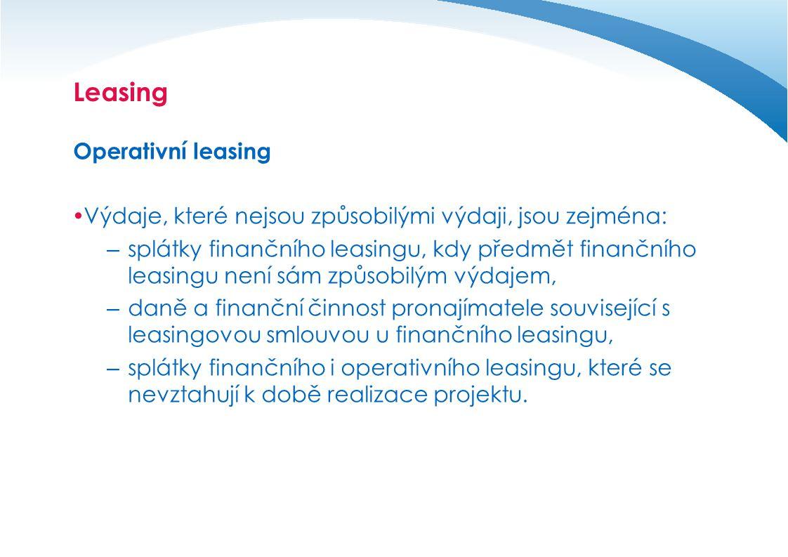 Leasing Operativní leasing