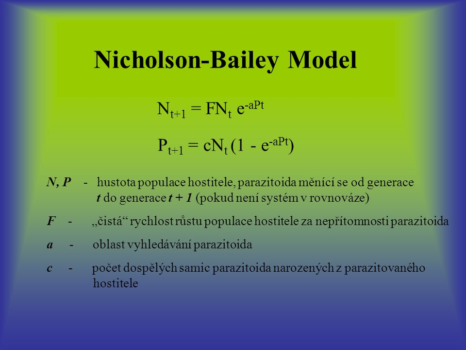 Nicholson-Bailey Model