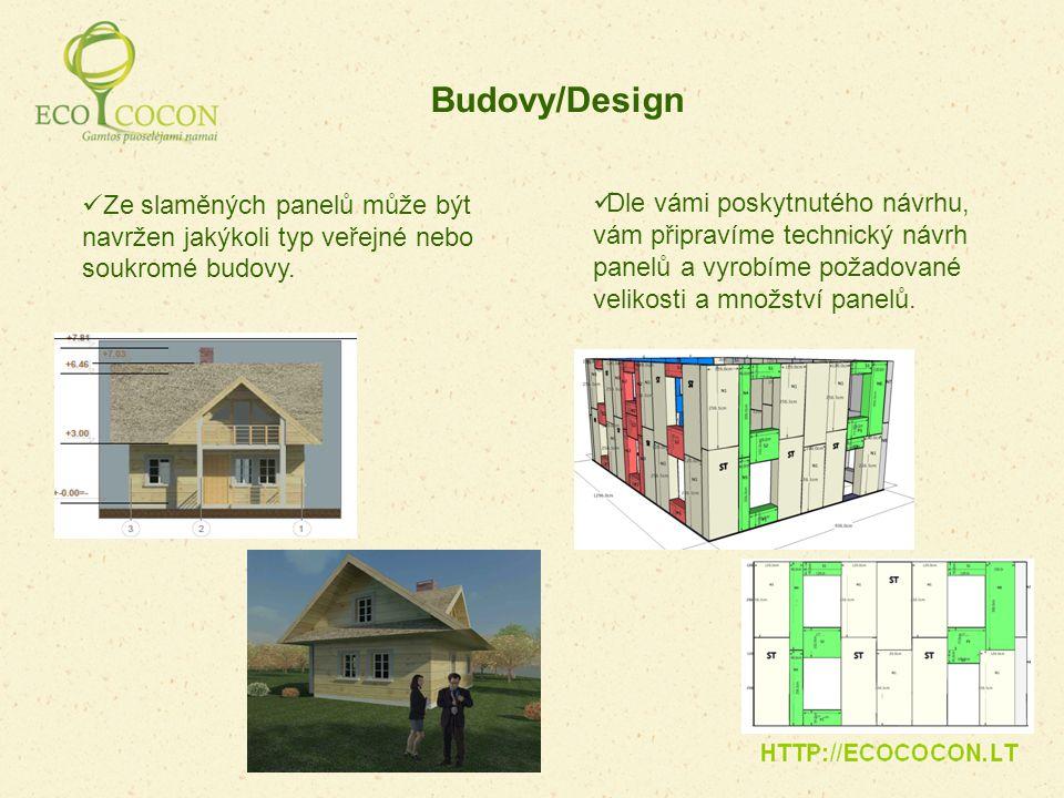 Budovy/Design Ze slaměných panelů může být navržen jakýkoli typ veřejné nebo soukromé budovy.