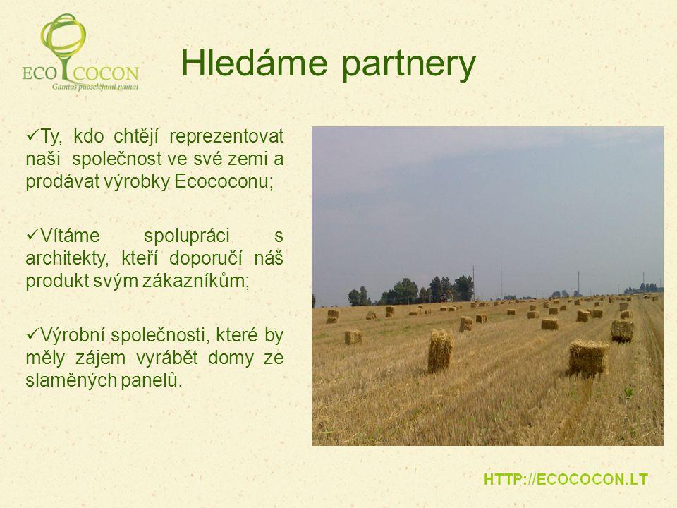 Hledáme partnery Ty, kdo chtějí reprezentovat naši společnost ve své zemi a prodávat výrobky Ecococonu;
