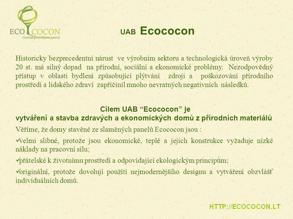 Cílem UAB Ecococon je