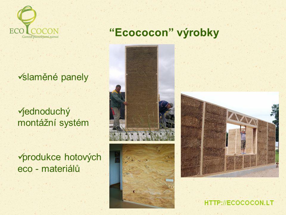 Ecococon výrobky slaměné panely jednoduchý montážní systém