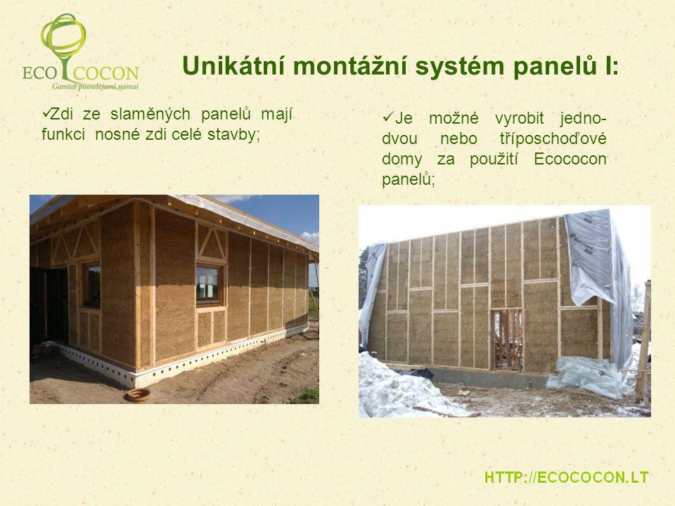 Unikátní montážní systém panelů I: