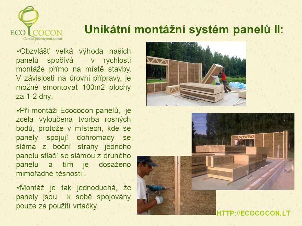 Unikátní montážní systém panelů II: