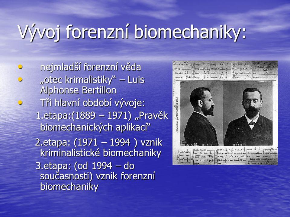 Vývoj forenzní biomechaniky: