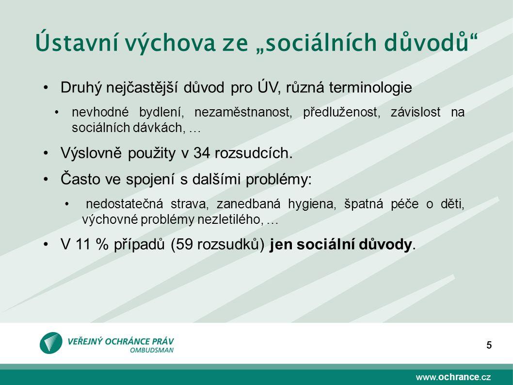 """Ústavní výchova ze """"sociálních důvodů"""