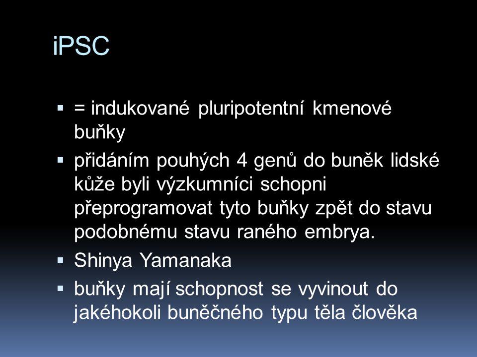 iPSC = indukované pluripotentní kmenové buňky