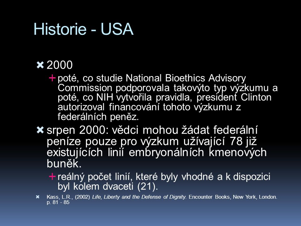 Historie - USA 2000.