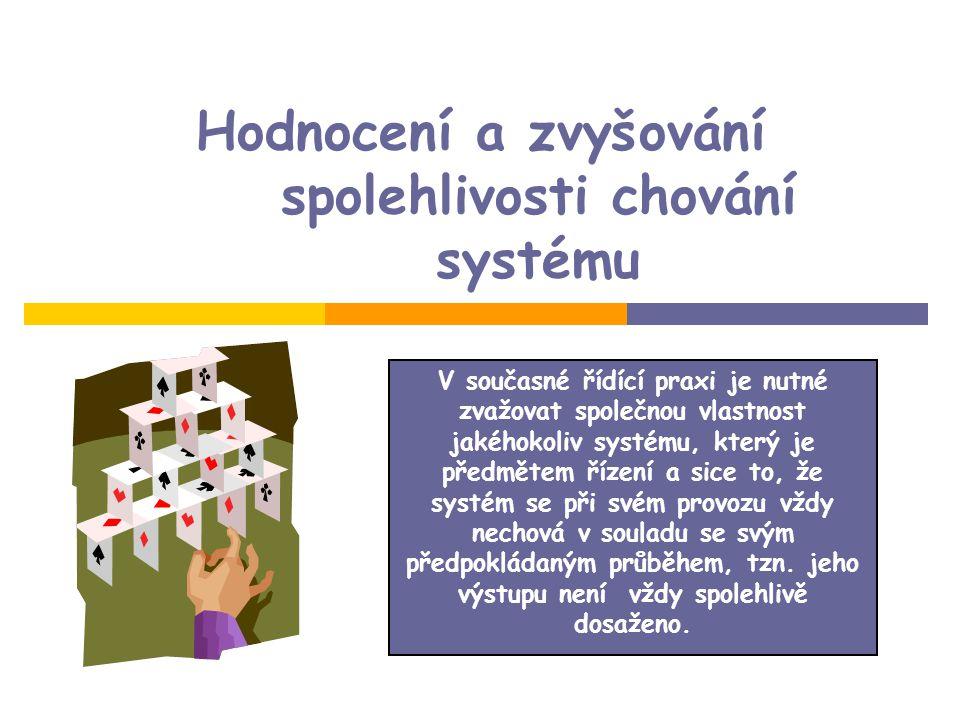 Hodnocení a zvyšování spolehlivosti chování systému