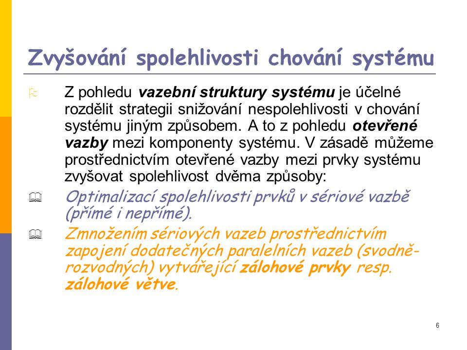 Zvyšování spolehlivosti chování systému
