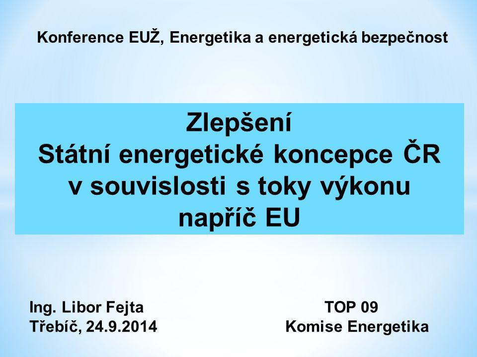 Státní energetické koncepce ČR v souvislosti s toky výkonu napříč EU