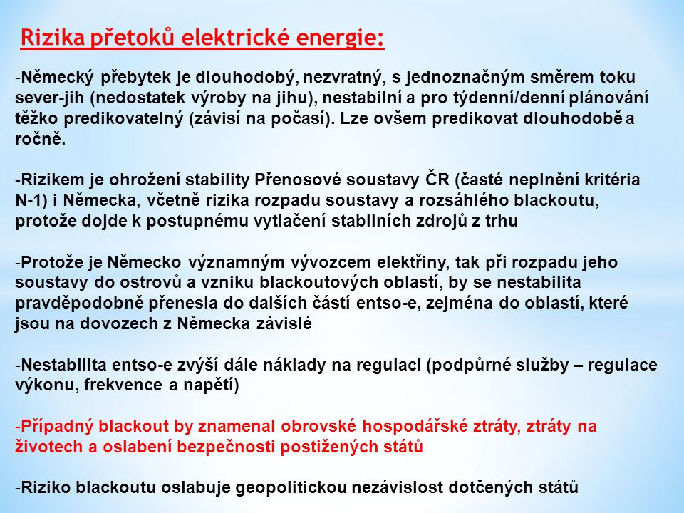 Rizika přetoků elektrické energie: