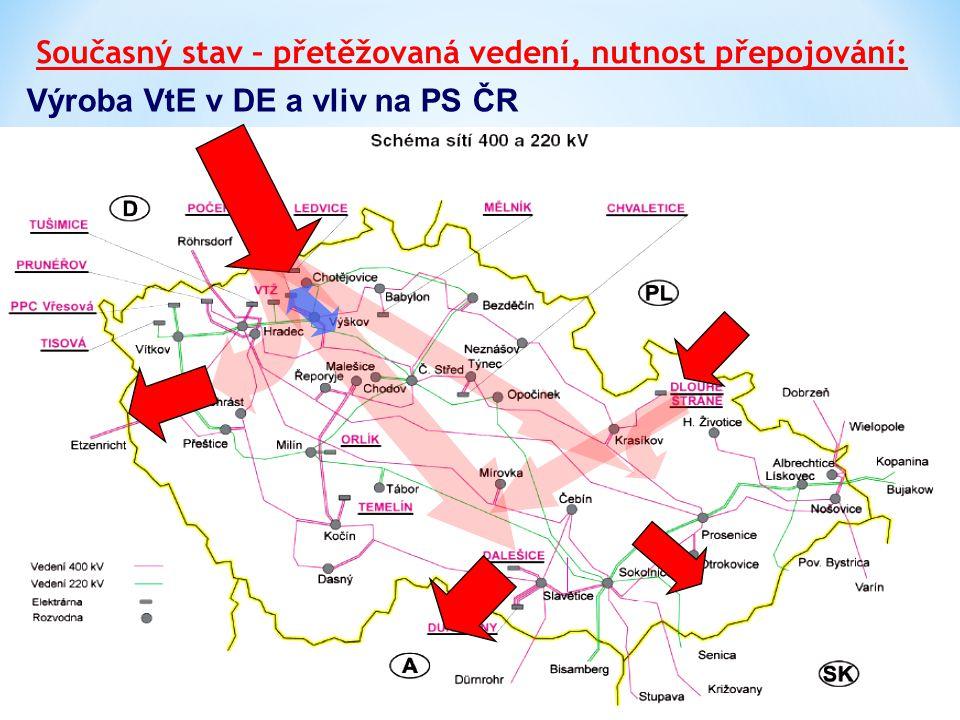 Výroba VtE v DE a vliv na PS ČR