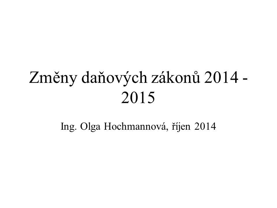Změny daňových zákonů 2014 - 2015