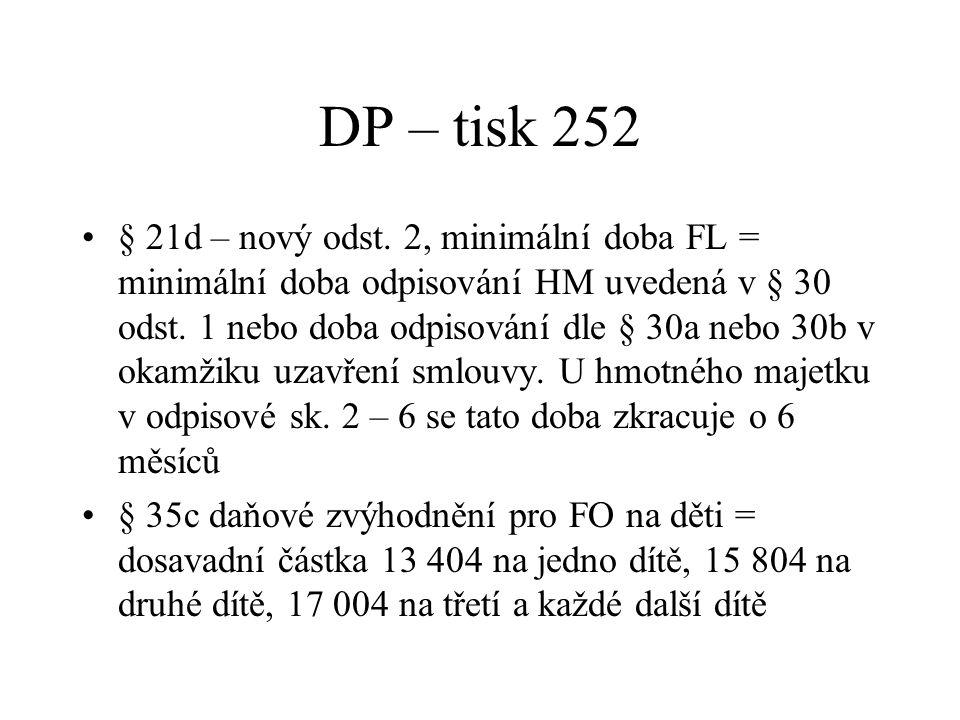 DP – tisk 252