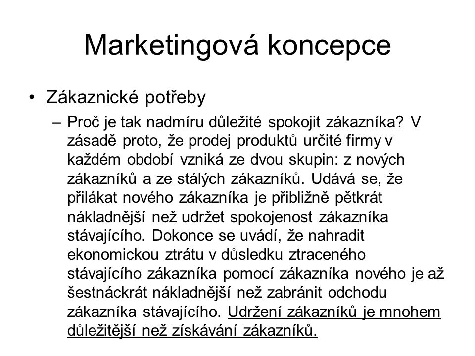 Marketingová koncepce