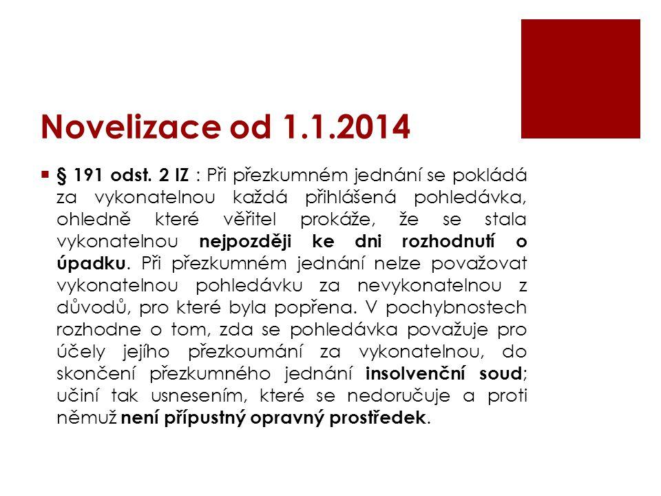 Novelizace od 1.1.2014