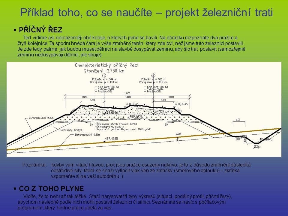 Příklad toho, co se naučíte – projekt železniční trati