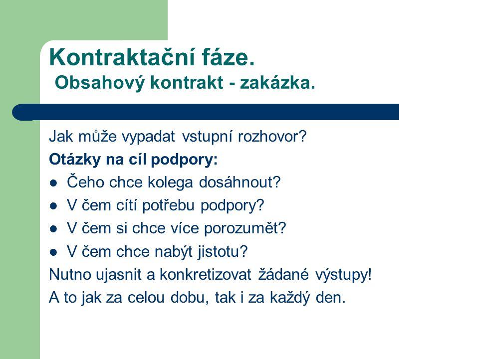 Kontraktační fáze. Obsahový kontrakt - zakázka.