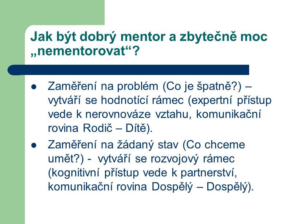 """Jak být dobrý mentor a zbytečně moc """"nementorovat"""