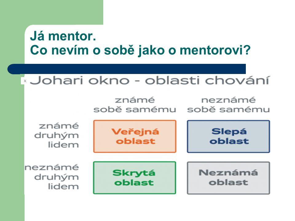 Já mentor. Co nevím o sobě jako o mentorovi