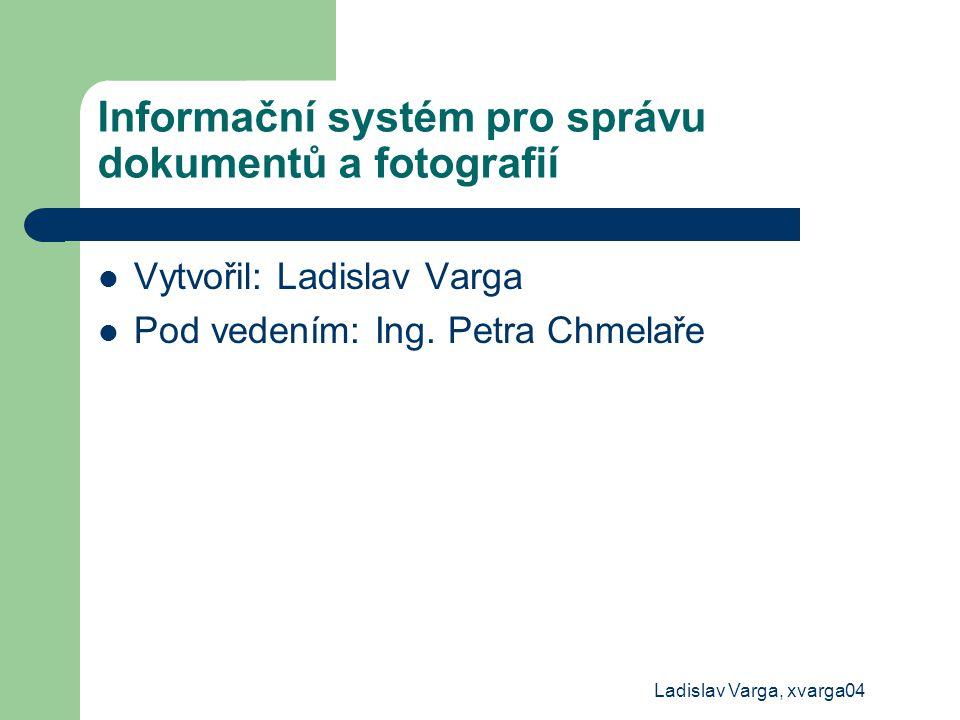 Informační systém pro správu dokumentů a fotografií