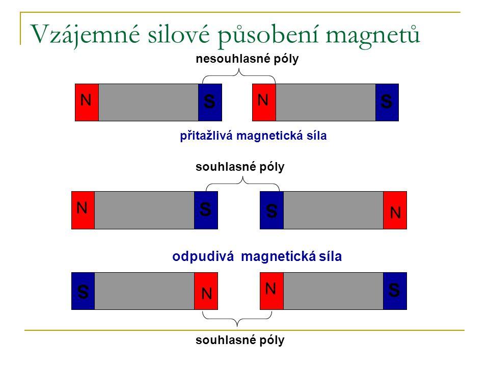 Vzájemné silové působení magnetů