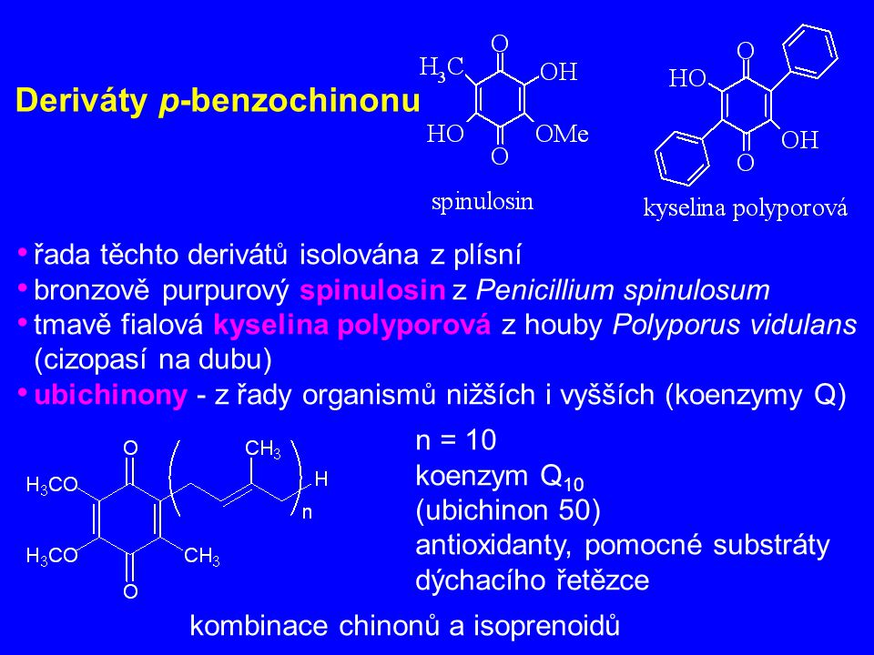 Deriváty p-benzochinonu