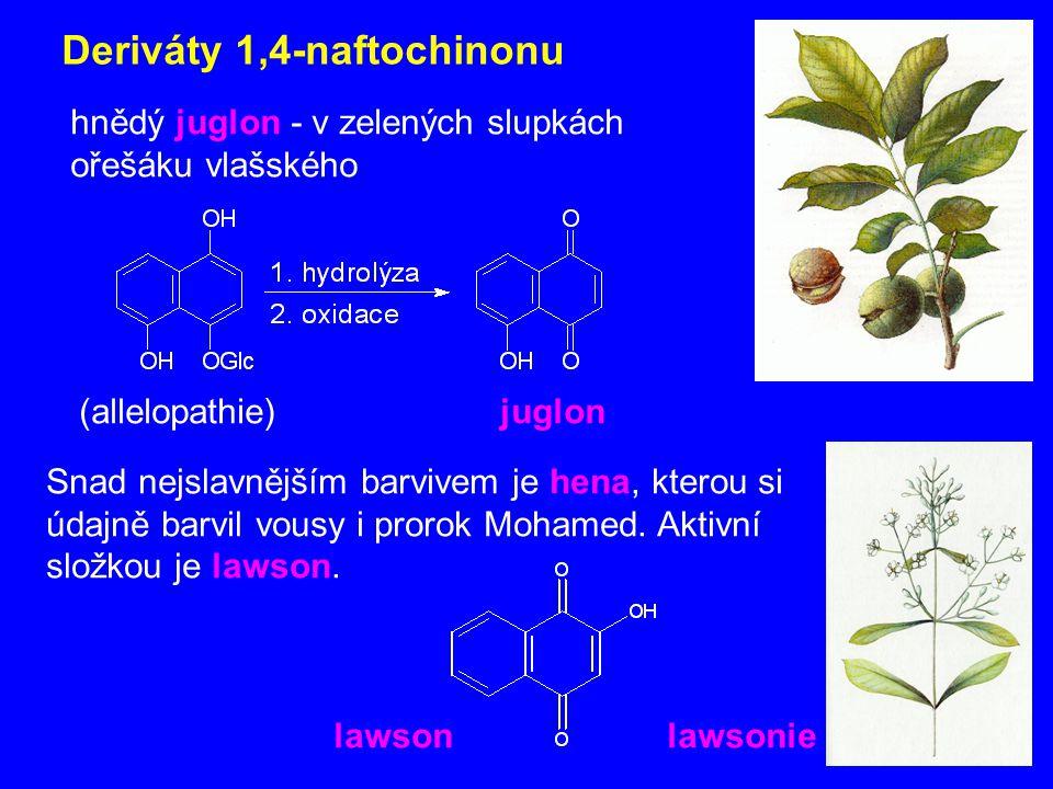 Deriváty 1,4-naftochinonu
