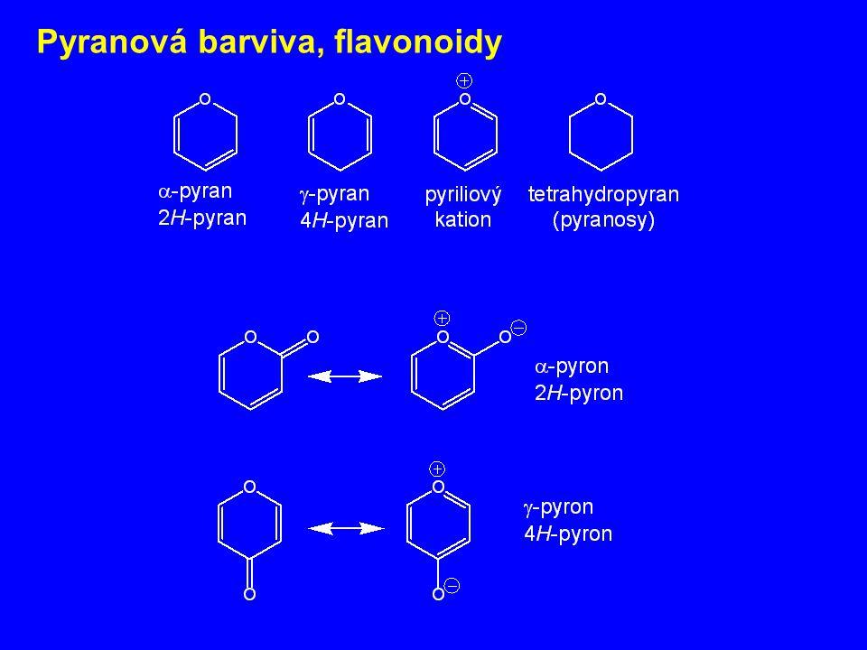 Pyranová barviva, flavonoidy