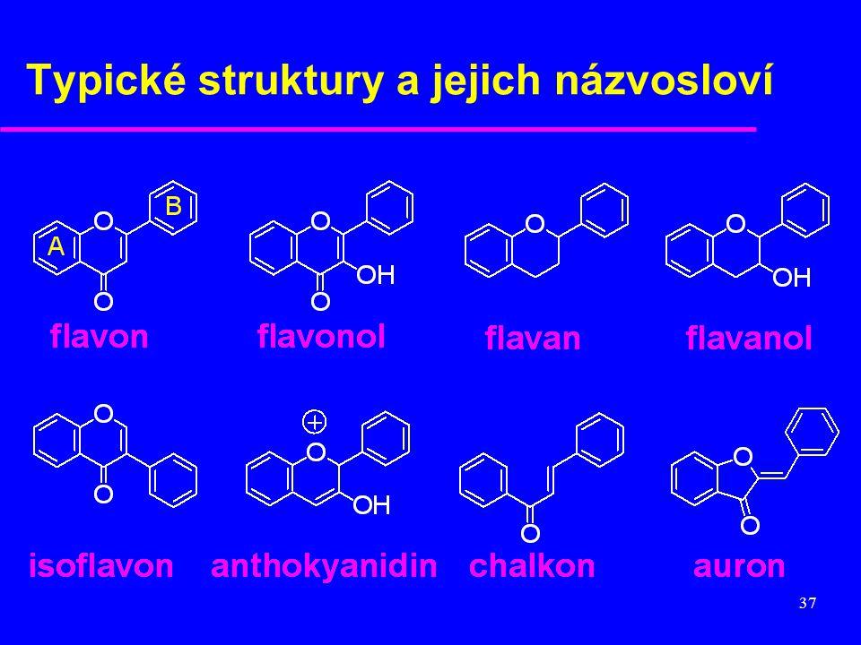 Typické struktury a jejich názvosloví