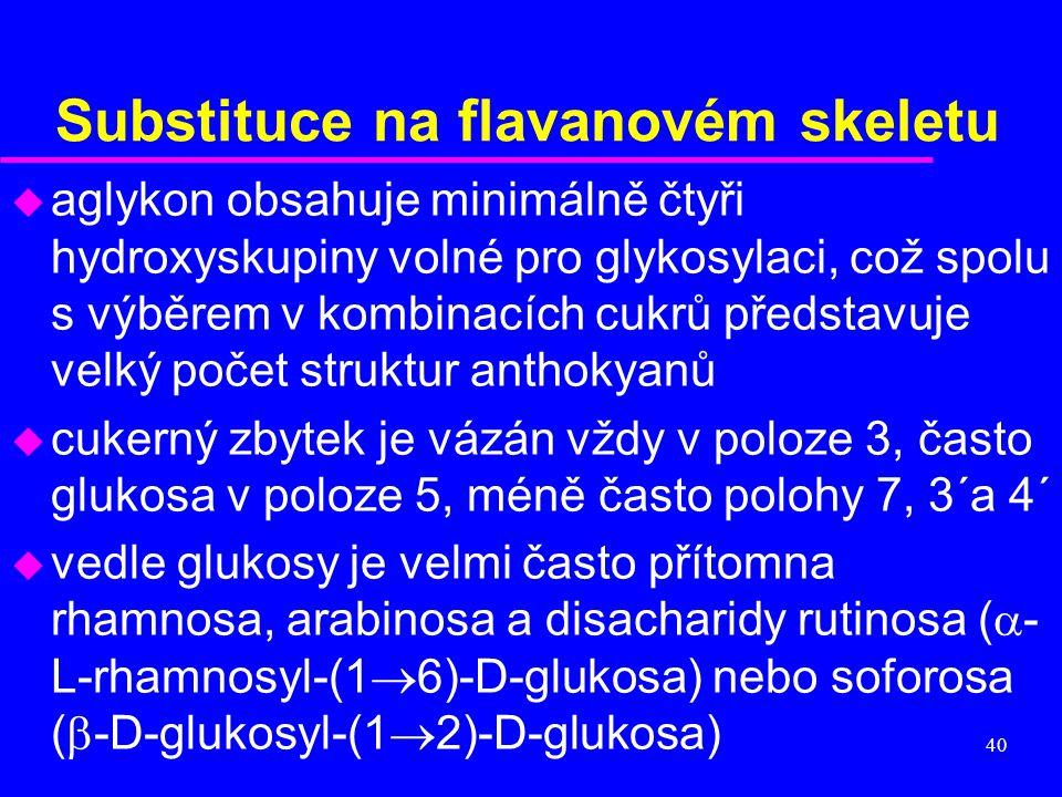 Substituce na flavanovém skeletu