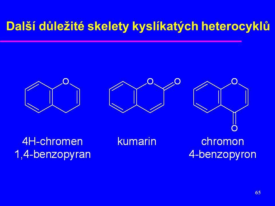 Další důležité skelety kyslíkatých heterocyklů