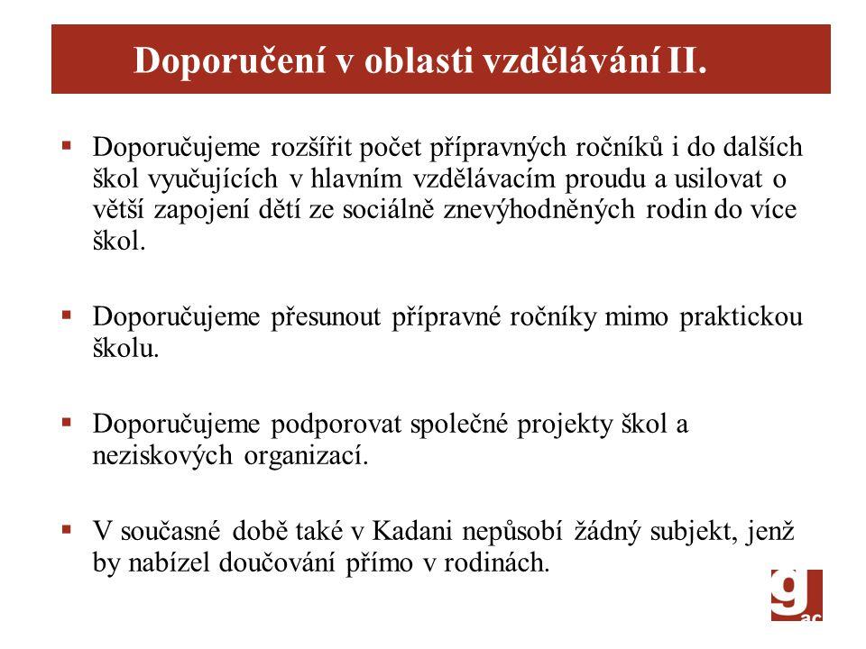 Doporučení v oblasti vzdělávání II.