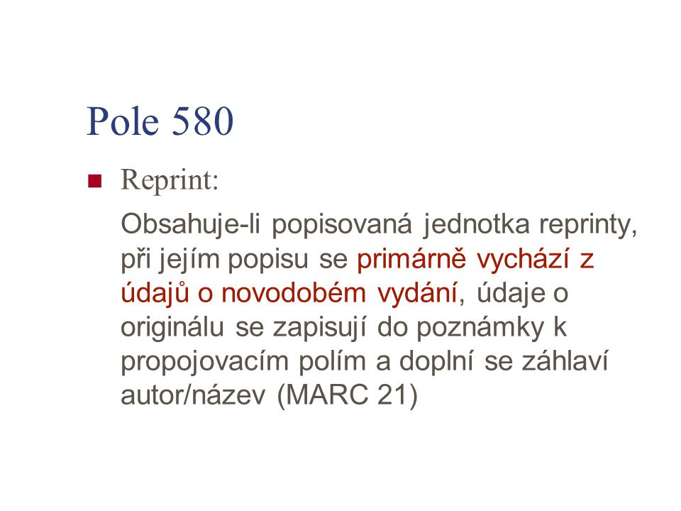 Pole 580 Reprint: