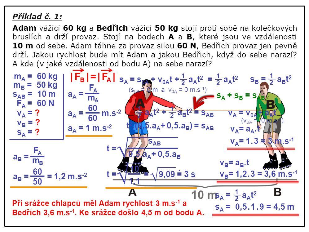 √ √ √ | FB | = | FA | mA = 60 kg sA = s0A + v0At + aAt2 = aAt2