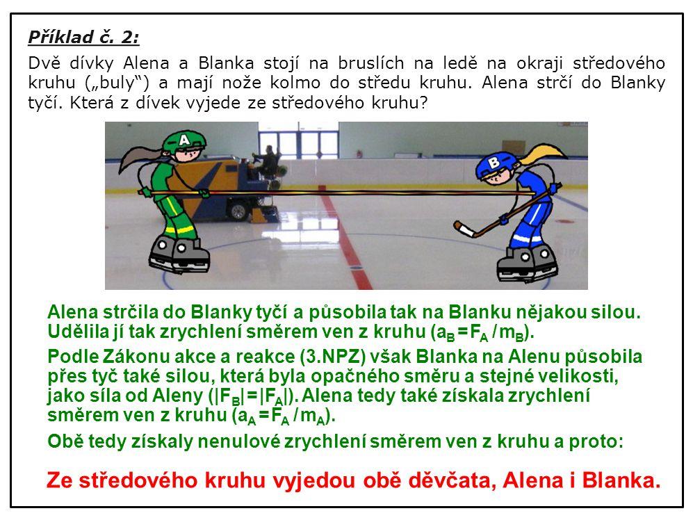 Ze středového kruhu vyjedou obě děvčata, Alena i Blanka.