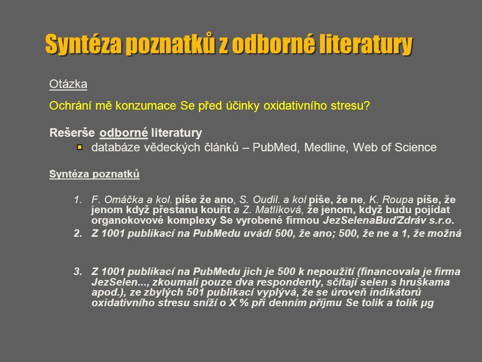 Syntéza poznatků z odborné literatury