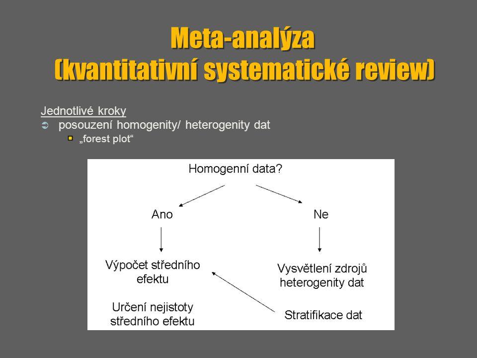 Meta-analýza (kvantitativní systematické review)