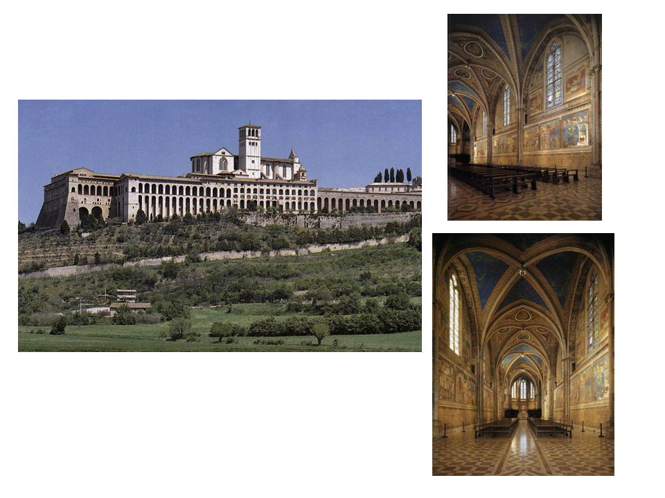 Assissi: kostel svatého františka