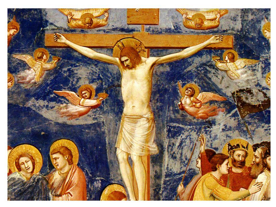 Ukřižování (1309); freska; dolní kostel sv. Františka, Assissi