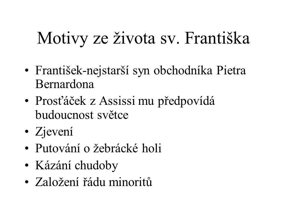 Motivy ze života sv. Františka