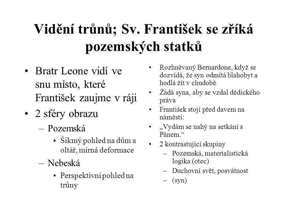 Vidění trůnů; Sv. František se zříká pozemských statků
