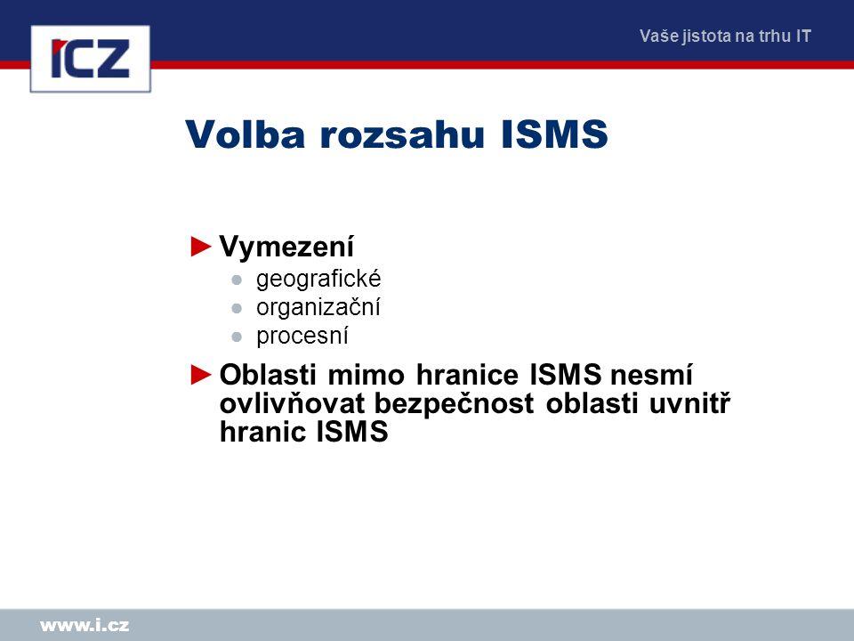 Volba rozsahu ISMS Vymezení