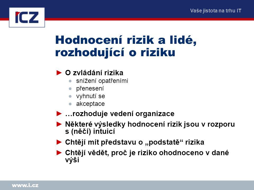 Hodnocení rizik a lidé, rozhodující o riziku
