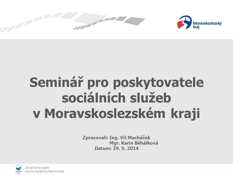 Seminář pro poskytovatele sociálních služeb v Moravskoslezském kraji
